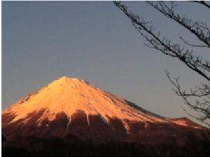 富士山 夕日